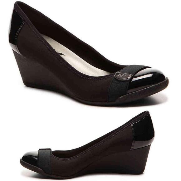 3bc8363fd481 Anne Klein Shoes - AK Anne Klein Sport Tatum Black Wedge Pump Comfort